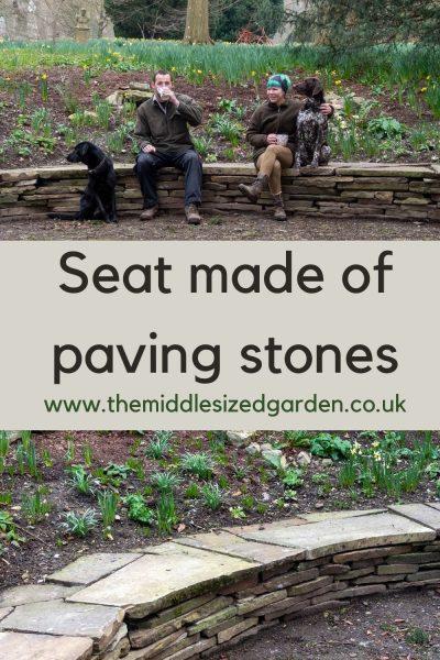 Stone paver seat.