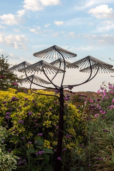 Parasols garden sculpture by Richard Cresswell