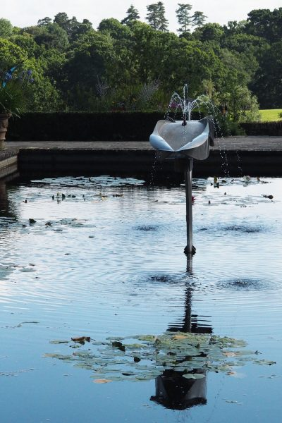 Sculpture and ponds work well together at Borde Hill Gardens in Sussex #gardendesign #backyard