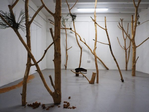 forest floral installation