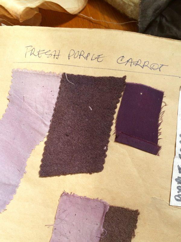 Purple carrot dye on