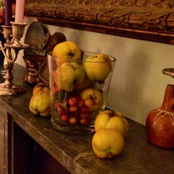 Use autumn fruits for decorations