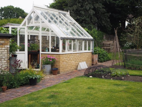 A practical and attractive position for a greenhouse