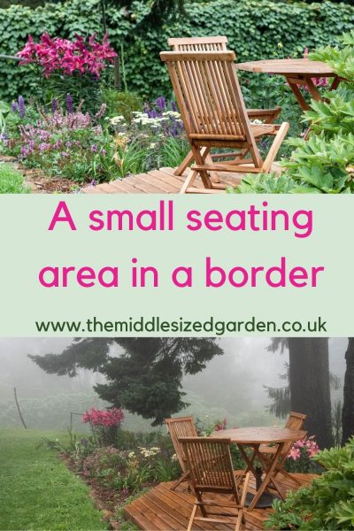 A seatng area in a border