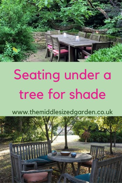 Shading for garden furniture