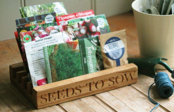 Win a handmade Oak & Rope Seed Packet Tidy worth £65!