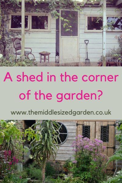 Sheds for a garden corner