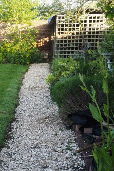 The garden path 'after'