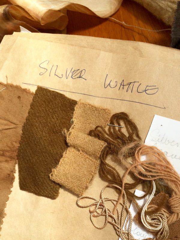 Silver wattle dye