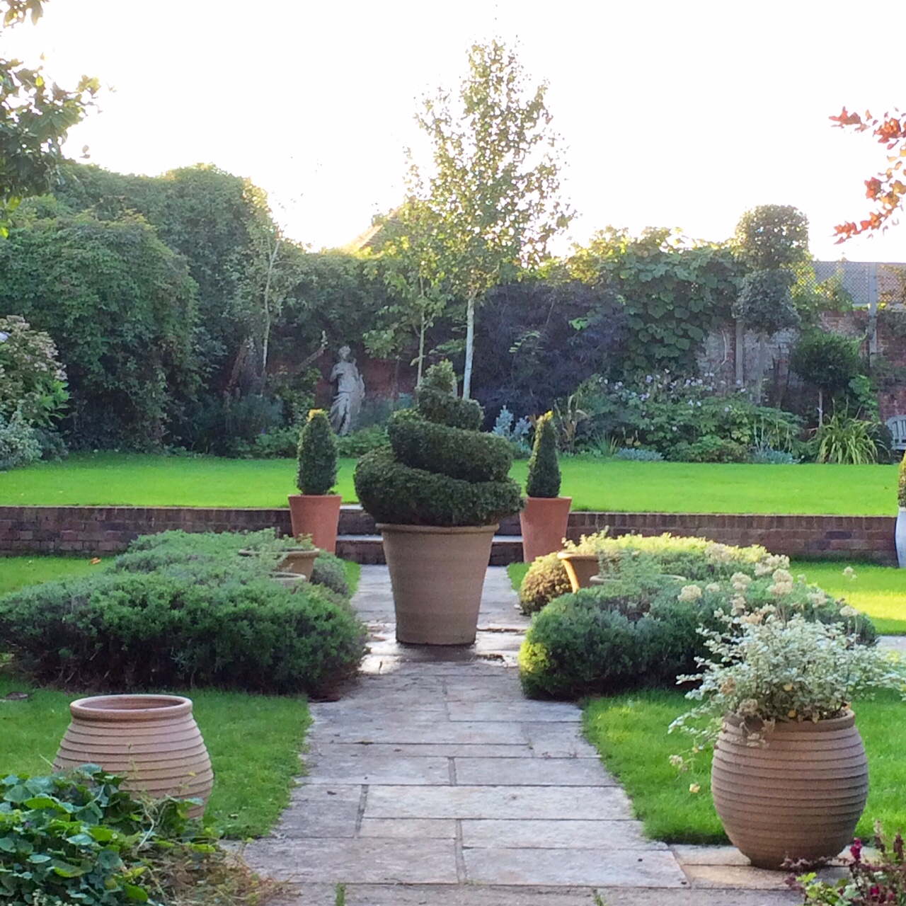 Spiral Topiary Parterre The Middle Sized Garden Gardening Blog
