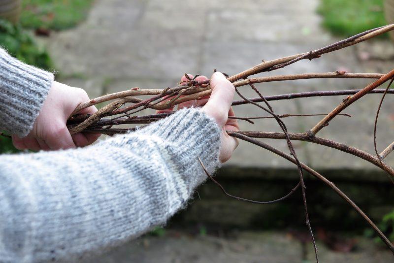 Step-by-step twig wreath