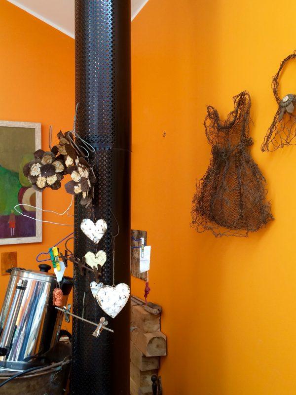 Inside Carolyn's studio