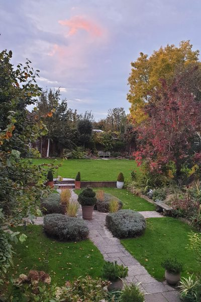 Sunset in the Middlesized Garden