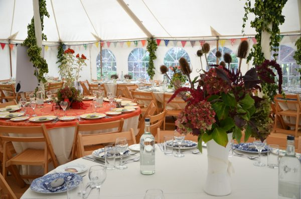 Marquee and table settings