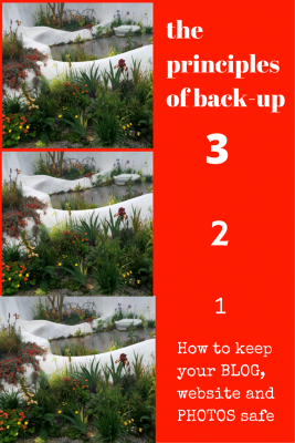 The 3-2-1 principle of back up