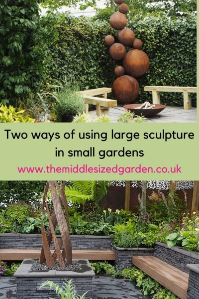 Placing a large sculpture in a small garden