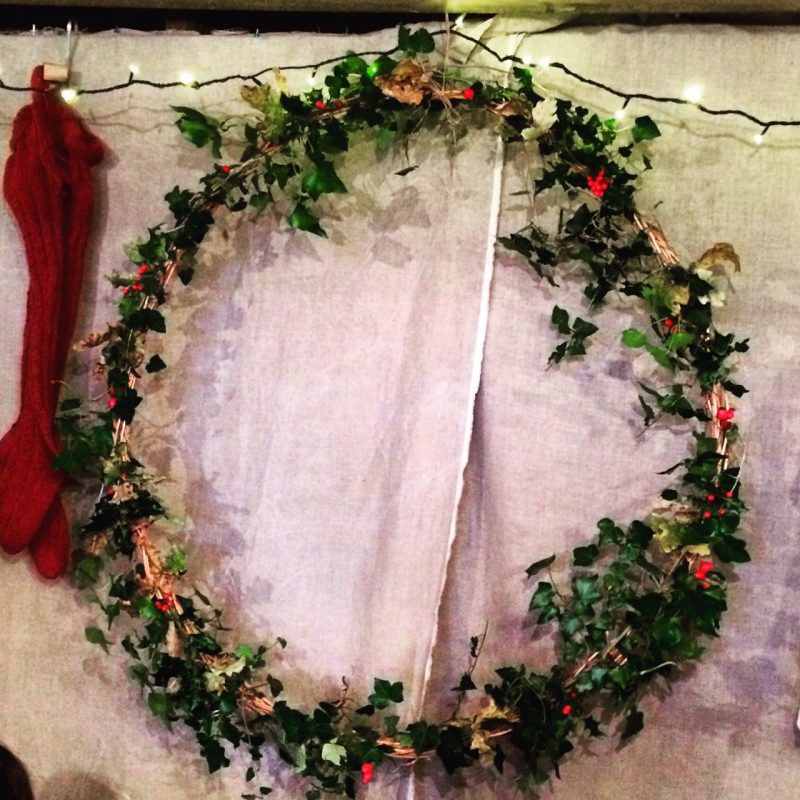 Crafted festive wreath
